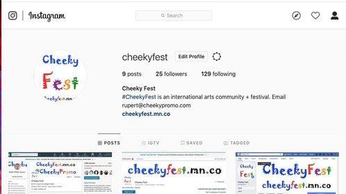 Cheeky Fest Instagram