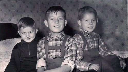 Left to right;  Laszlo age 5, Jozsef age 9, Bela age 7, Photo 1957.