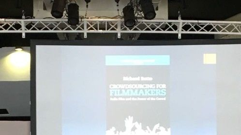 Teaching to the Producer's Network at the Cannes Film Festival on Crowdsourcing for Filmmakers, based off of my book.