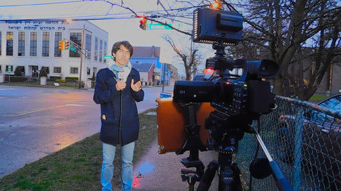 Delivering a report on a large gathering violation in Lakewood, NJ