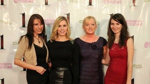 With some of the lovely and super talented ladies of THE RUBY RUNS RED at Project Twenty1.