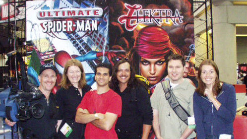 With Electric Playground crew at San Diego Comic Con 2001