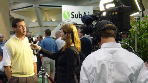 Interviewing Golf Superintendents at convention in San Diego 2004