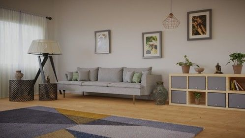 Created this living room scene from a few reference images. Modelled the sofa myself and the photos are just some random ones I took on a walk
