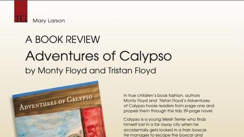 Adventures of Calypso book review from Terrier Group magazine