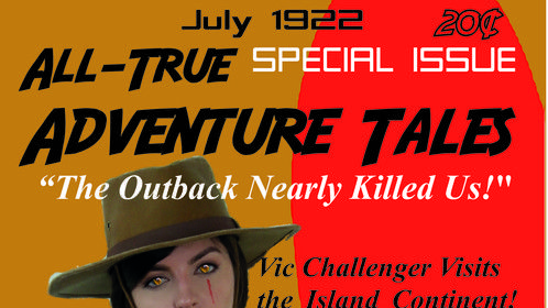 Just for fun!  Special Issue of fictional Magazine following Vic Challenger's trip to Australia to visit a great aunt; Vic and Lin Li go after crooks and end up fighting a menagerie of cryptids; Vic learns again and again, to stay alive you need to be fast, book 5, Vic: Fast