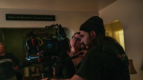 Directing DOMICILE (2020) with DP Bruce James Bales and AD Kalena Clarkson.