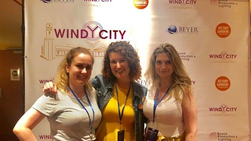 At Windy City International Film Festival with Andrea Holz and Jackie Jorgenson (2019)