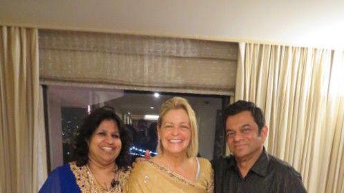 My 1st Custom-made Sari - hangin' with my Mumbai Indian Family
