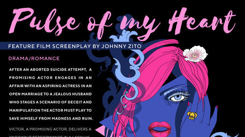 Pulse of my Heart (Feature screenplay one-sheet) design by Emilie Bokanowski http://emiliebokshop.com/  http://emiliesarah.tumblr.com/