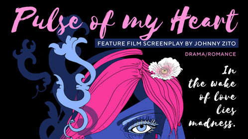 Pulse of my Heart (Feature screenplay poster) design by Emilie Bokanowski http://emiliebokshop.com/  http://emiliesarah.tumblr.com/