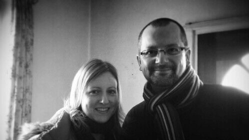 """""""Karma"""" - with writer Nicola Chance during a very cold promo shoot for the crowdfund campaign."""