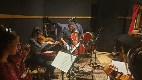 Recording the score for 'Hopsa Heisasa' with our amazing musicians