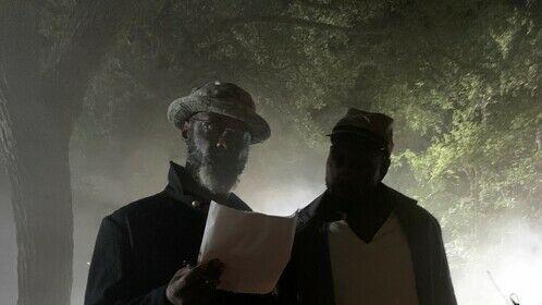 Isaiah Washington explaining to Thomas Q. Jones his character