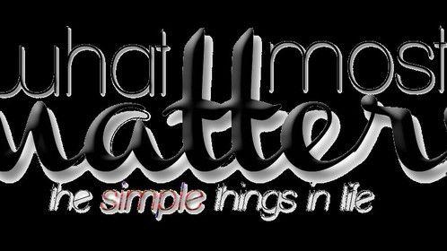 What Matters Most w/Tagline