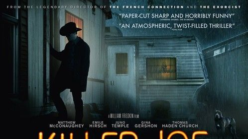 UK Version of the Poster for Director William Friedkin's 'Killer Joe' with Matthew McConaughey. Still Photo: Skip Bolen / Voltage Pictures