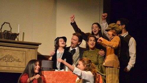 as Bob Cratchit in 'A Christmas Carol' with McKinney Repertory Theatre