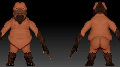 Result modelled in Zbrush, Character Strip