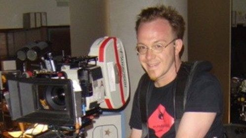 Me trying Daniel Sauvé's rig on the set of The Sentinel in the summer 2005