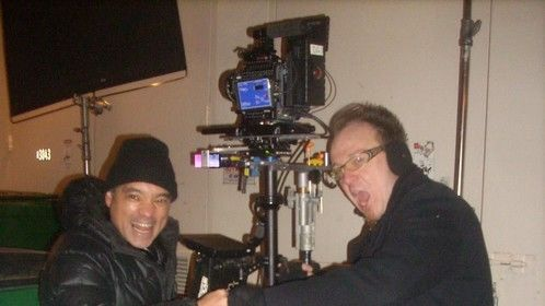 Me and my friend Randy on an outdoor set in december 2012