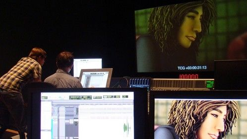 Working on the final mix
