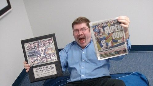 Steve Nagy, doing what he does BEST!! Making fun of the NY/NJ Giants' fans after the Cowboys KICKED their ass the night before!!