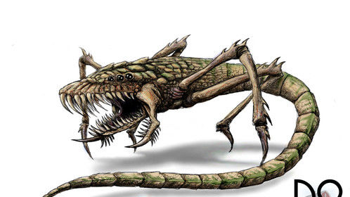 Creature Concept Drawing -2 - Client chose this one for production