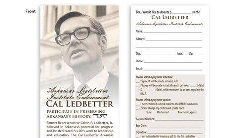 UALR Ledbetter event donor card