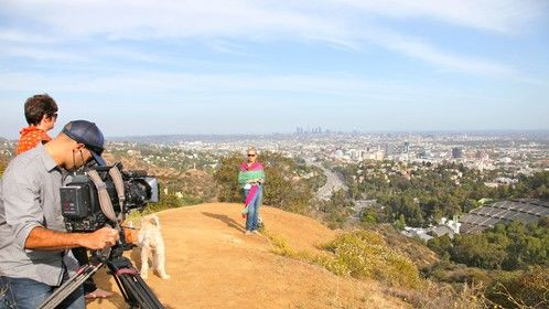 3rd Degree New Zealand TV Crew Filming with Cheryl Shuman on Mulholland Drive in Los Angeles