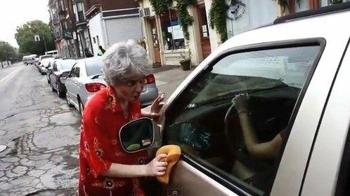 Barb & Bob putting on a car wash