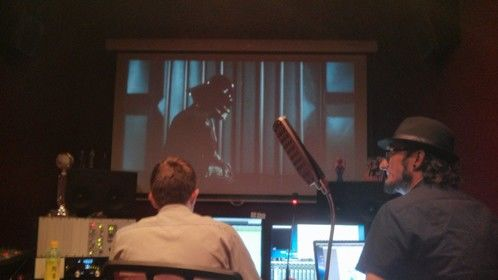 ADR session at Red Angel Studios