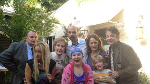 Morgan Lambert, Lucy Davis, Georgia Engle, Scott Adsit, Tom McGowan, Sam Pancake, Kimberly Aboltin and Nick Toggenburger on set in LA :)