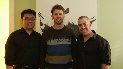 Terry Jun and Jon Heder