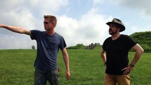 Power poses at Angal Mounds in Indiana