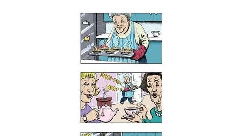 Full-color storyboard for a Blue Bell ice cream commercial spot (spec)