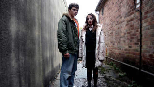 Promotion still of Maia Elsey and Finn Morrell