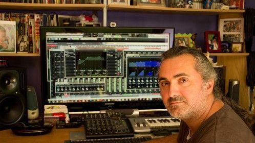 In my recording studio...