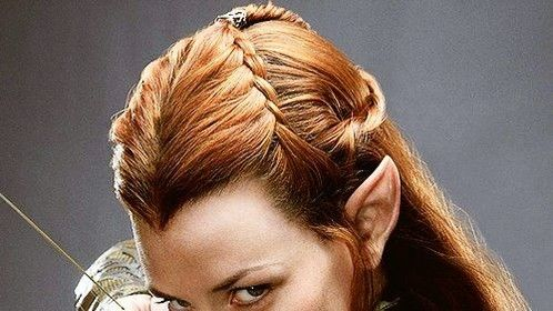 Evangeline Lilly _ hair, makeup and ears applied by Hil Cook