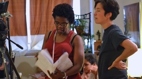"""Director Rosalyn Coleman Williams and DP Nara Garber from """"The Last Piece"""" now in post."""