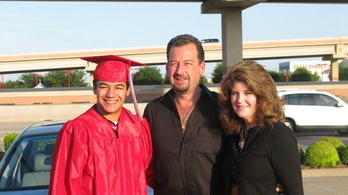 With my brother and his son on graduation day, spring 2012