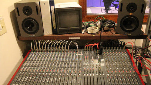 A close up of our mixer.