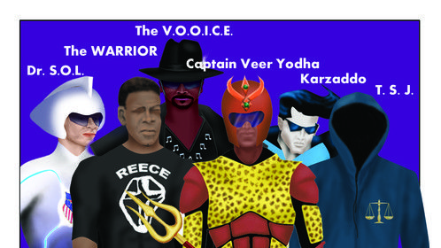 """A Group of the COMBINED Super Heroic Forces from the """"WORLD OF DOOM-LEGACY OF DESTRUCTION"""" Epic Mini-Series"""