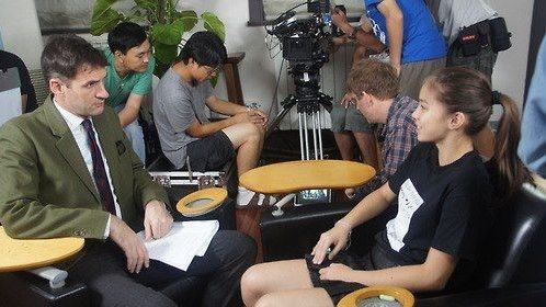 Behind the scenes on ANLYSIS with director RICHARD TROMBLY
