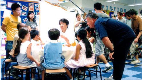 shooting Jackie Chan in a 'UNICEF Kids' TVC on bird flu education