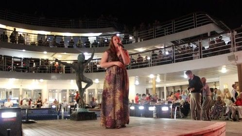 Lilli Moore on the Marco Polo Cruise ship