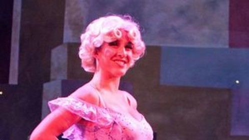 """As a showgirl in """"Crazy for You"""""""