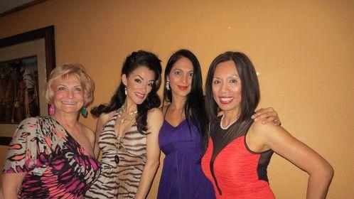 With my lovely friends : Kalpana Pandit (Bollywood star), Gigi Burton (talented chanteuse in Tucson, AZ) and Gail Palmer.