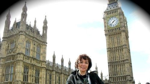 "Visiting Big Ben in London before going to the Premiere party in Oxford, UK of the film ""Anyone Can Play Guitar,"" Executive Produce of this music documentary"