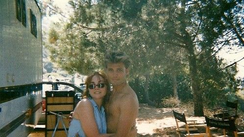"Younger days of Casper Van Dien and I on the Set of ""James Dean"" in Los Angeles during my set PA days"