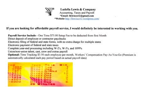 If you are looking for affordable payroll service, I would definitely be interested in working with you